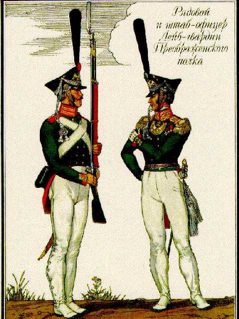 Гвардейцы Преображенского полка