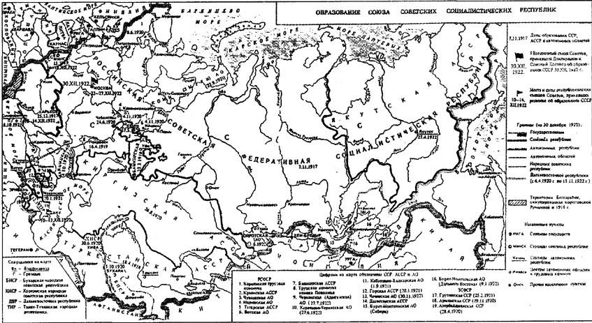 Образование Союза Советских
